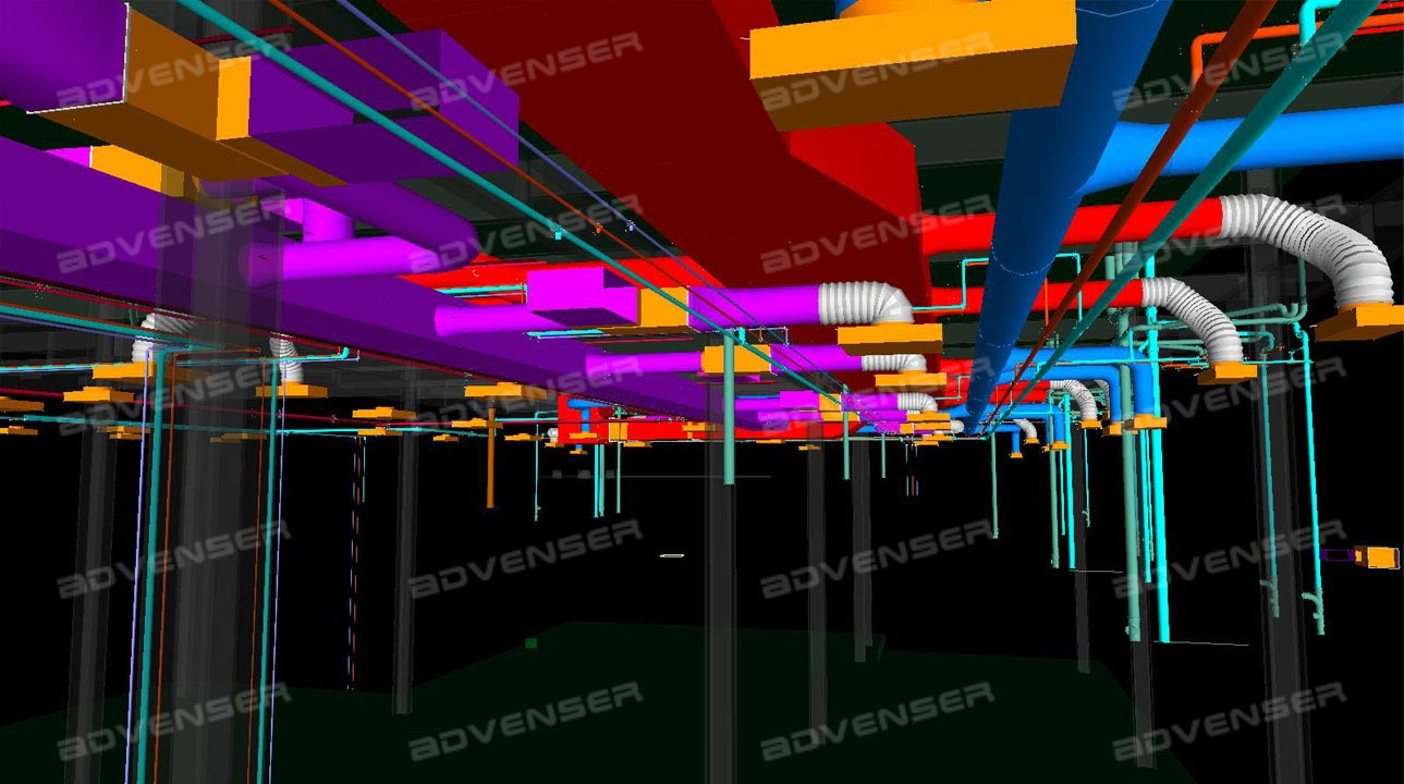 Mep Hvac Engineering Services Isometric Drawing