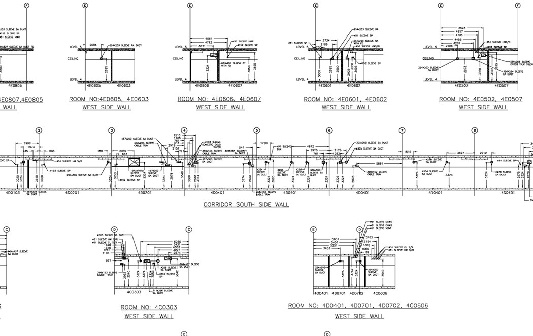 Builders work drawing services hvac services for Electrical as built drawings sample