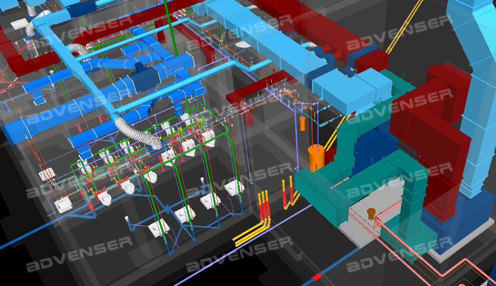 3d Mep Coordinated Cad Drawing Services  Collission