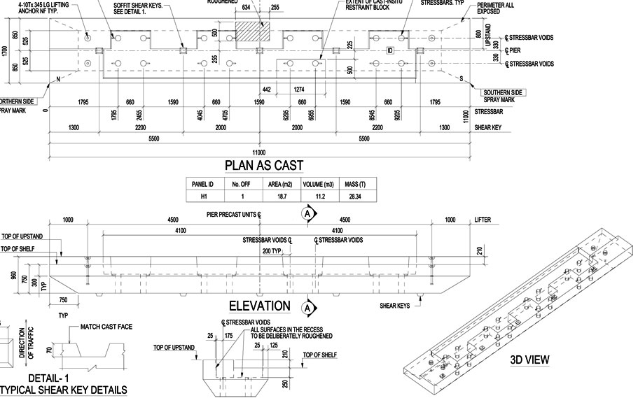 Precast Concrete Detailing Services Shop Drawing
