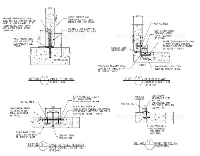 Precast Concrete Architectural Details : Precast concrete detailing services shop drawing